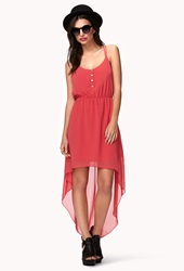 Forever 21 High Low Racerback Dress Coral