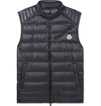 Moncler Arv Quilted Shell Down Gilet Navy