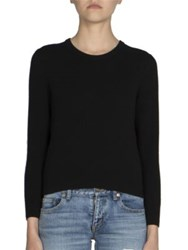 Saint Laurent Lace Back Sweater Black