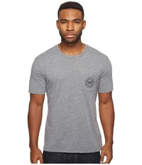 Brixton Reel Short Sleeve Pocket Tee Heather Grey Men's T Shirt Gray