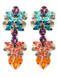Anton Heunis Crystal Embellished Earrings Blue