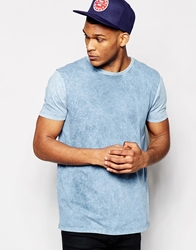 Asos T Shirt With Acid Wash In Relaxed Skater Fit Blue