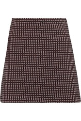 Theory Kerash Jacquard Knit Mini Skirt Red