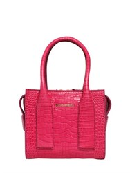Dsquared Twin Peaks Croc Embossed Leather Bag