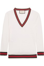 Gucci Striped Wool Sweater Ivory