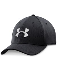 Under Armour Men's Blitzing Ii Stretch Fit Heatgear Hat Black White