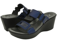 Naot Footwear Treasure Polar Sea Navy Patent Leather Women's Sandals