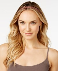 Josette Braided Nailhead Headwrap Brown
