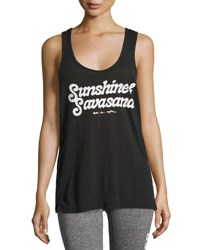 Spiritual Gangster Sunshine And Savasana Aura Tank Top Black
