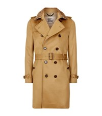 Burberry London The Sandringham Long Cashmere Heritage Trench Coat Male