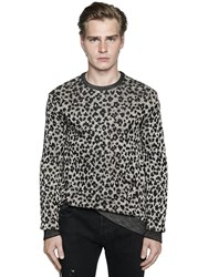 Just Cavalli Leopard Viscose And Cotton Knit Sweater