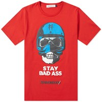 Undercover Stay Bad Ass Print Tee Red