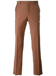 Maison Martin Margiela Poplin Tailored Trousers Brown