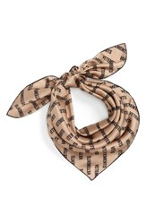 Vetements Logo Silk Scarf Beige Monogram