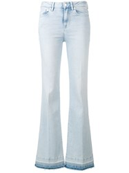7 For All Mankind San Clamente Flared Jeans Blue