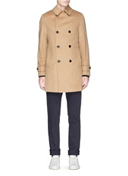 Tomorrowland Double Breasted Wool Cashmere Coat Neutral