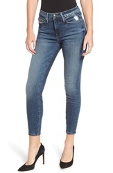 Good American Plus Size Legs Ripped Crop Skinny Jeans Blue 187