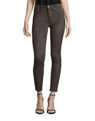 7 For All Mankind Faux Suede Jeggings Suede Olive
