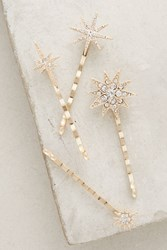 Anthropologie Constellation Bobby Pin Set Gold