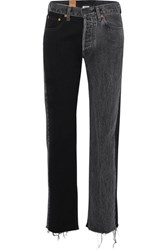 Vetements Levi's Mid Rise Straight Leg Jeans Black Gbp