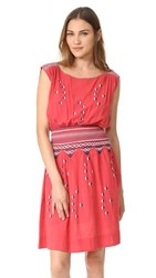 The Great Great. Deco Dress Bright Pink With Navy White