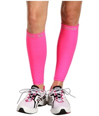 Zensah Compression Leg Sleeves Neon Pink Athletic Sports Equipment