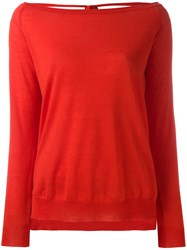 P.A.R.O.S.H. Open Back Sweater Red