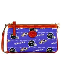 Dooney And Bourke Baltimore Ravens Nylon Wristlet Black