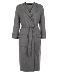 Jaeger Double Faced Wool Pocket Coat Grey