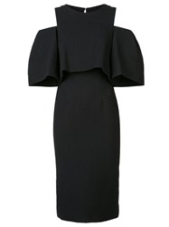 Monique Lhuillier Cold Shoulder Dress Black
