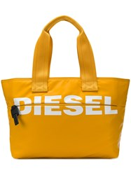 Diesel F Bold Shopper Tote Yellow And Orange