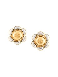 Chanel Vintage Cc Earrings Gold