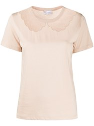 Red Valentino Tulle Insert T Shirt 60