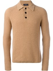 Joseph Polo Collar Jumper Nude Neutrals