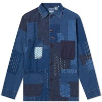 Blue Blue Japan Patchwork Coverall Jacket Blue