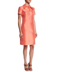 Michael Kors Short Sleeve Polo Dress Persimmon