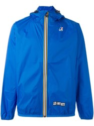K Way Les Art Ists Printed Anorak Jacket Blue