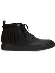 Valas Fringed Hi Top Sneakers Black