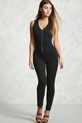 Forever 21 Hooded Zip Up Jumpsuit