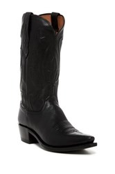 Lucchese Ranch Hand Embossed Western Boot Black