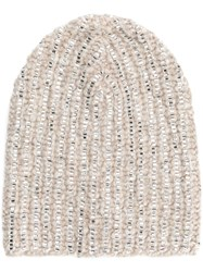 Ermanno Scervino Embellished Beanie Nude And Neutrals