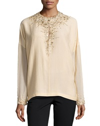 Kaufman Franco Moroccan Jeweled Vintage Top Dune