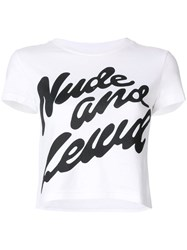 House Of Holland Slogan T Shirt White