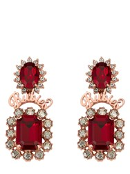Mawi Ruby Slogan Crown Earring Red
