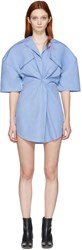Jacquemus Blue Luniform Shirt Dress