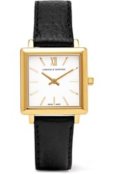 Larsson And Jennings Norse Textured Leather Gold Plated Watch One Size