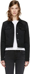 J Brand Black Denim Harlow Trucker Jacket