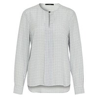 Oui Long Sleeve Check Blouse Off White Blue
