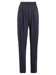 Altuzarra Lidig High Rise Pinstriped Trousers Navy Stripe
