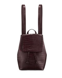 French Connection Alana Crocodile Embossed Backpack Brown